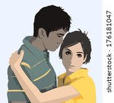 a young couple | Shutterstock . vector #176181047