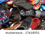 shoes and sandals at a flea... | Shutterstock . vector #17618551