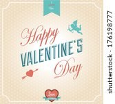happy valentine's day card.... | Shutterstock . vector #176198777