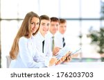 group of business people using... | Shutterstock . vector #176203703