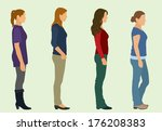 waiting in line | Shutterstock .eps vector #176208383