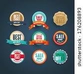 set of vector labels  badges... | Shutterstock .eps vector #176208893