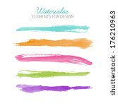beautiful bright watercolor... | Shutterstock .eps vector #176210963