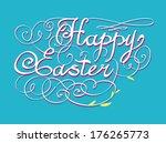 happy easter hand lettering  | Shutterstock .eps vector #176265773
