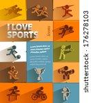 i love sport icons. vector... | Shutterstock .eps vector #176278103