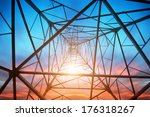 power tower in the sky... | Shutterstock . vector #176318267