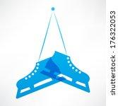 blue skates | Shutterstock .eps vector #176322053