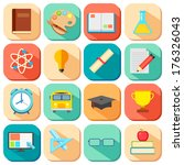 illustration of flat education... | Shutterstock .eps vector #176326043