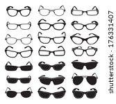 set of glasses and sunglasses | Shutterstock .eps vector #176331407