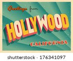 vintage touristic greeting card ... | Shutterstock .eps vector #176341097