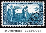 norway   circa 1941  a stamp... | Shutterstock . vector #176347787