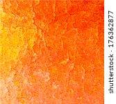 orange abstract watercolor... | Shutterstock .eps vector #176362877