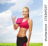 fitness  heatl and diet concept ... | Shutterstock . vector #176369237