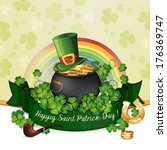 saint patrick's day card with... | Shutterstock .eps vector #176369747