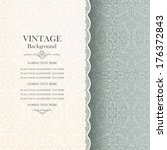 vintage background  antique... | Shutterstock .eps vector #176372843