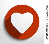 vector heart icon. | Shutterstock .eps vector #176393933