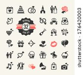 web icon set   wedding ... | Shutterstock .eps vector #176420003