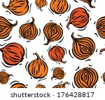 brown onion seamless pattern