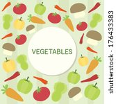 text frame with vegetables... | Shutterstock .eps vector #176433383
