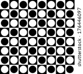 dotted checkered black and... | Shutterstock .eps vector #176446097