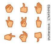 hand gestures  icons  | Shutterstock .eps vector #176454983