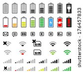 mobile icons   gui design set   ...