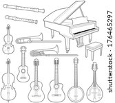 music instruments collection  ... | Shutterstock .eps vector #176465297
