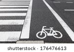 Bicycle Lane Signage On The...