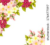 abstract flower background with ... | Shutterstock .eps vector #176477597