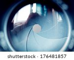 the diaphragm of a camera lens... | Shutterstock . vector #176481857