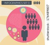 infographics organization flow... | Shutterstock .eps vector #176489807