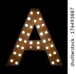 the letter a in black | Shutterstock . vector #176493887