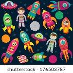 vector collection of cartoon...   Shutterstock .eps vector #176503787
