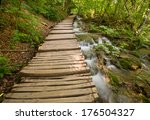 wooden path in national park in ... | Shutterstock . vector #176504327