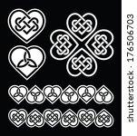irish  scottish celtic heart... | Shutterstock .eps vector #176506703
