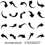 vector illustration of curved... | Shutterstock .eps vector #176520227