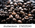 roasted coffee beans  | Shutterstock . vector #176525243