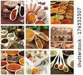 collage of different aroma... | Shutterstock . vector #176552507