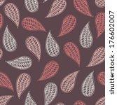 paisley vector seamless pattern.... | Shutterstock .eps vector #176602007