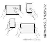 responsive mobile devices  ... | Shutterstock .eps vector #176604227