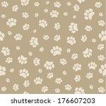 background animal footprints... | Shutterstock . vector #176607203