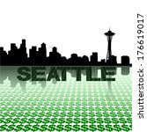 abstract,cityscape,dollar,economy,illustration,reflected,reflection,seattle,silhouette,skyline,skyscrapers,symbol,text,towers,urban