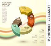 3d vector abstract pie chart...