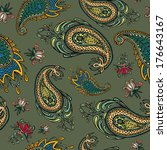 colorful paisley seamless | Shutterstock .eps vector #176643167