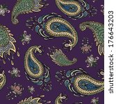 colorful paisley seamless | Shutterstock .eps vector #176643203