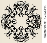 decorative baroque ornament | Shutterstock .eps vector #17666191