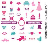 wedding party set   photobooth... | Shutterstock .eps vector #176688197