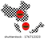 racing flag maps 2 china... | Shutterstock . vector #176712323