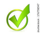 image of a green check mark...   Shutterstock .eps vector #176758547