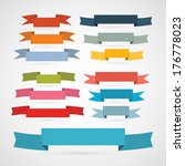 colorful retro ribbons  labels... | Shutterstock . vector #176778023